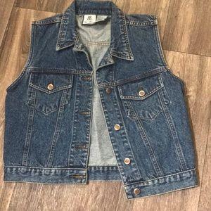 Retro Vintage Denim Jean Vest 1990's